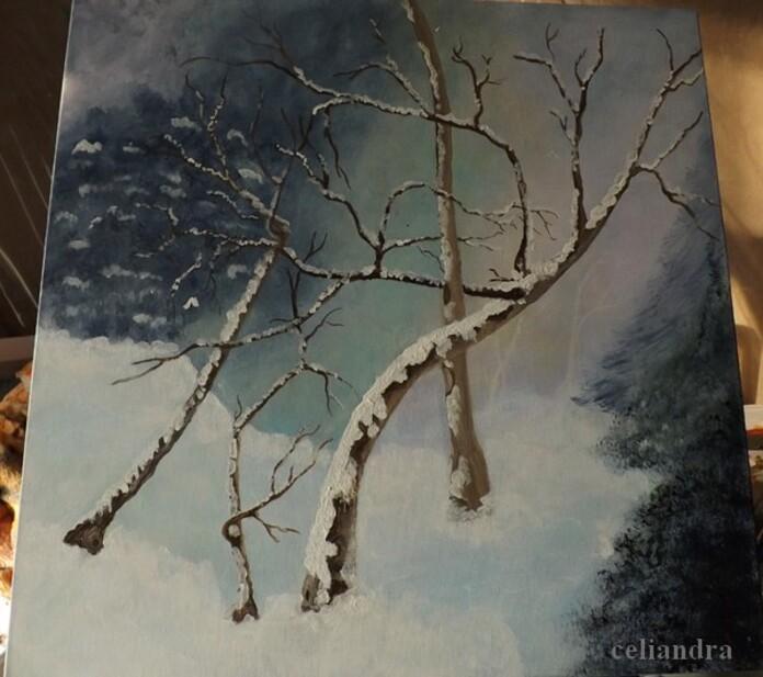 Peinture: Paysage féerique