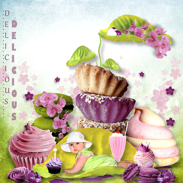 "Collab ""Sweet Cupcake"" chez Digiscrabooking !"