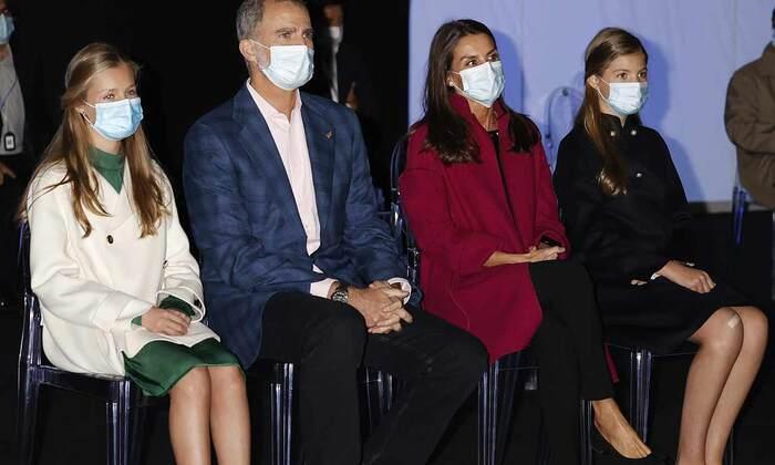 La famille royale d'Espagne à Oviedo