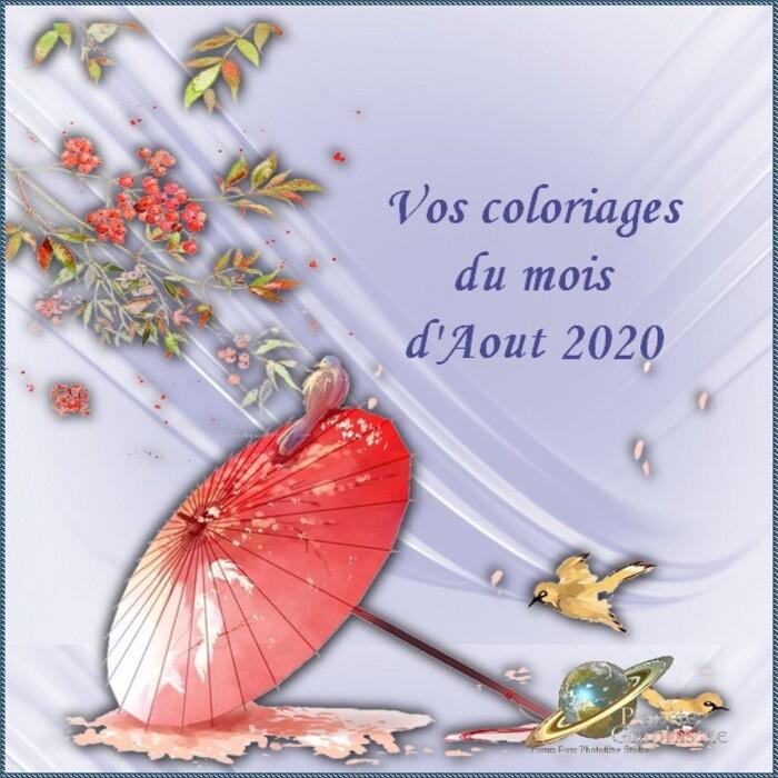 Coloriage du mois d'Aout 2020