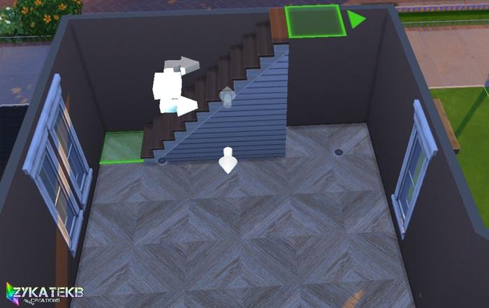 Un faux meuble sous les escaliers.