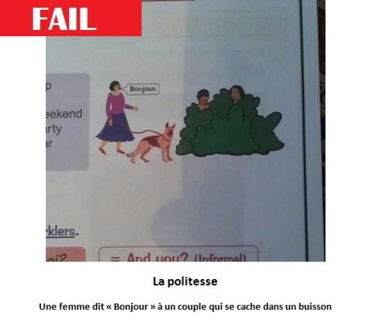 Des illustrations de livres scolaires bien etranges