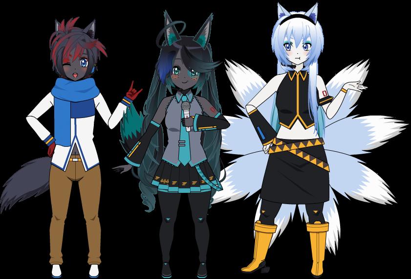Zaphire, Zephyr et Nicetails en Vocaloid