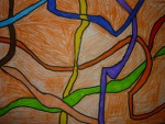 Les spaghettis colorées et Brice Marden