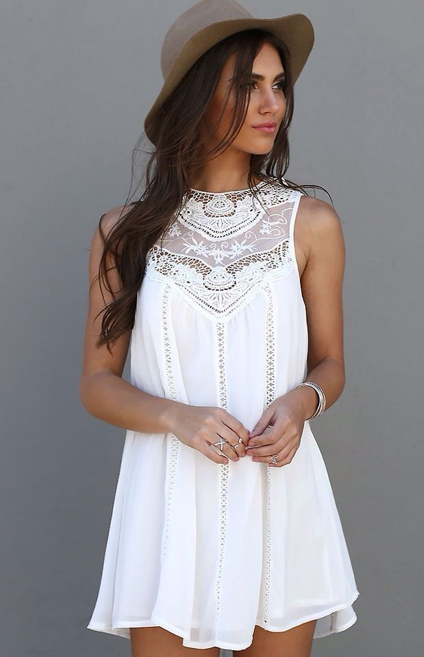 Cute little white dress: