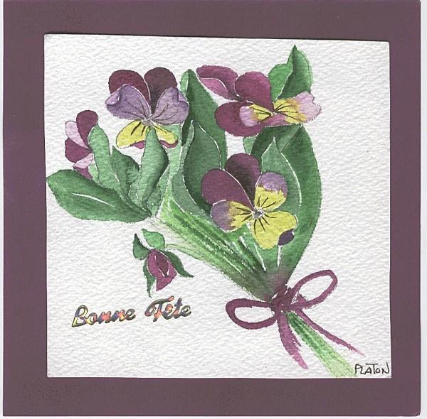cartes fleurs artiste platon fête mère maman