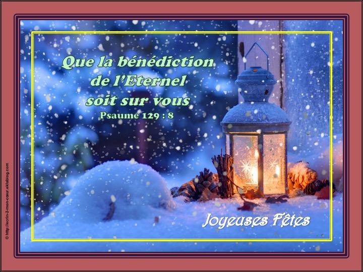Joyeuses Fêtes - Psaumes 129 : 8