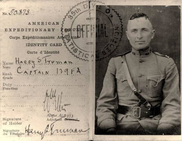 Harry Truman, alors futur Président des Etats Unis, séjourna brièvement dans  le Châtillonnais à la fin du conflit 1914-1918