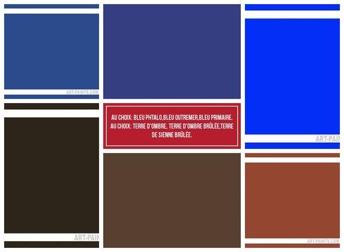 Dessin et peinture - vidéo 3366 : Comment peindre un oeil bleu avec 5 couleurs ? - toutes les techniques.
