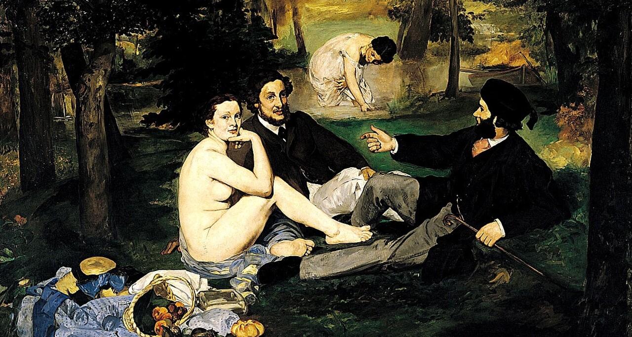 """Manet 5 / 1863 : le """"scandale"""" du déjeuner sur l' herbe !"""