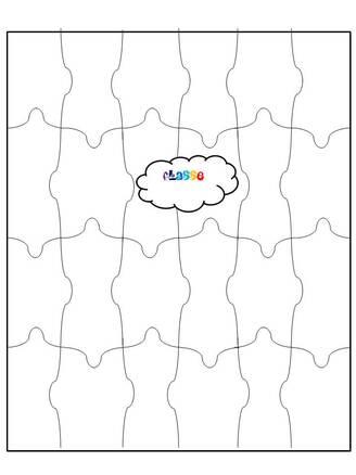 Décoration porte de la classe: puzzle