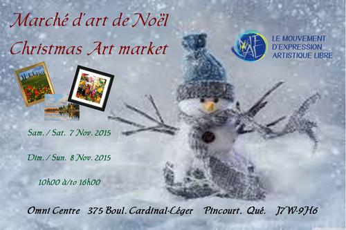 Exposition d'art marché de Noël
