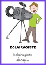 Les métiers du cinéma - Cartes nomenclature Montessori