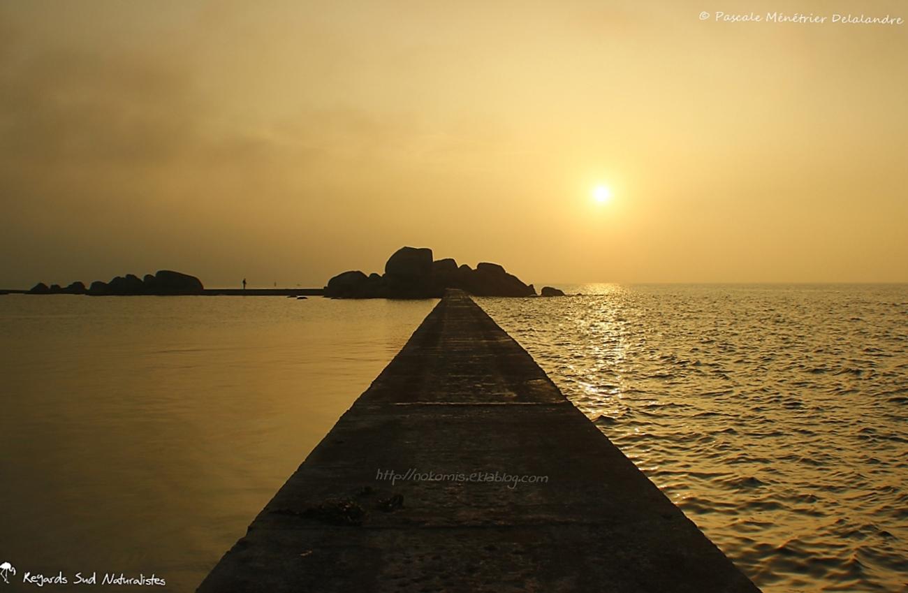 Jetée de Porz Gwenn au coucher du soleil