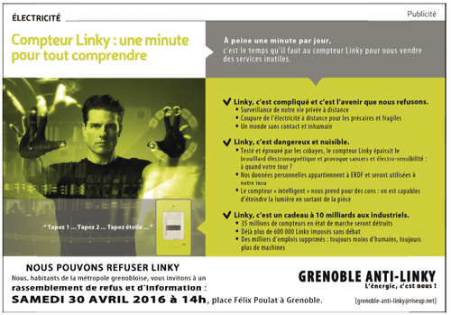 Affiche rassemblement de Grenoble (30 avril 2016)