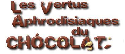 Résultat d'images pour les vertus aphrodisiaque du chocolat
