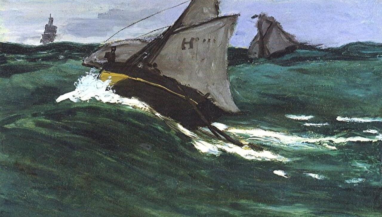 Monet /9/ -1867- Le port du Havre par mauvais temps.