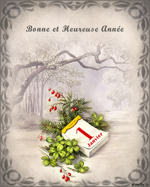 Nouvel An Vintage (Carte et Papier Outlook)
