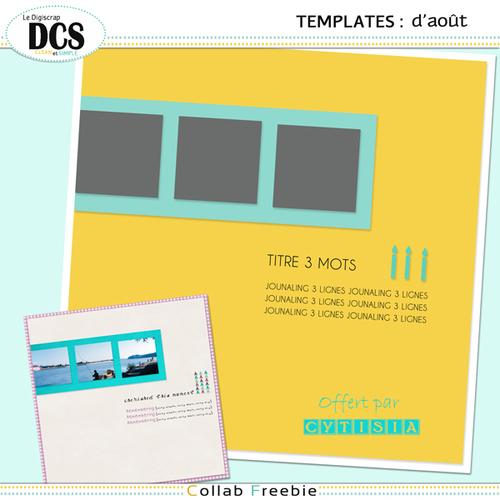 DCS: Les templates d'Août