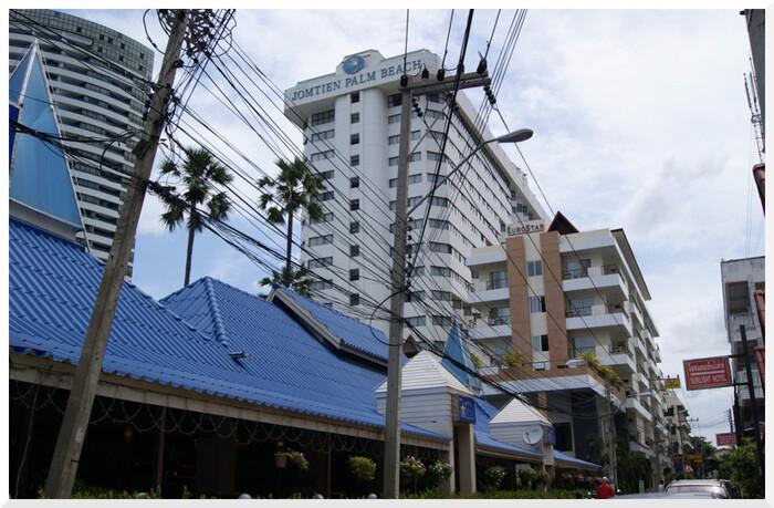 Quelques Hôtels à Jomtien. Thaïlande.