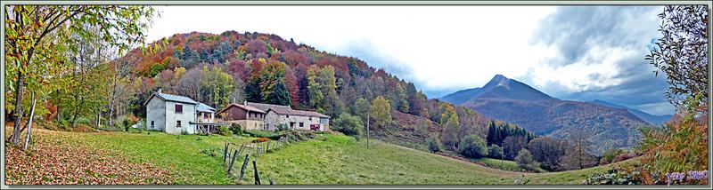 Le Picon : couleurs d'automne au Col de Las Parets avec le Cagire en arrière plan - Milhas - 31