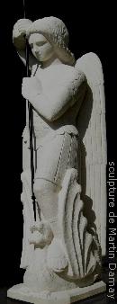 saint Michel, sculpture de Martin Damay, reproduction interdite