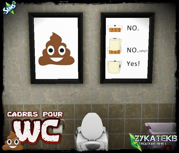 Cadres pour wc