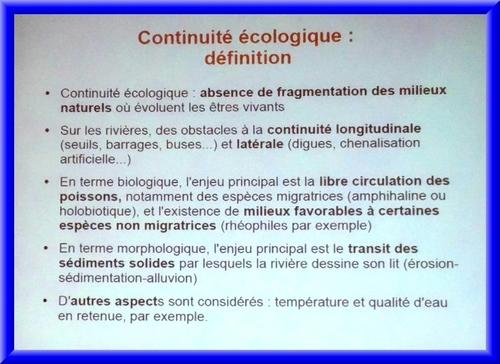Un débat sur la continuité écologique  et l'avenir de nos rivières