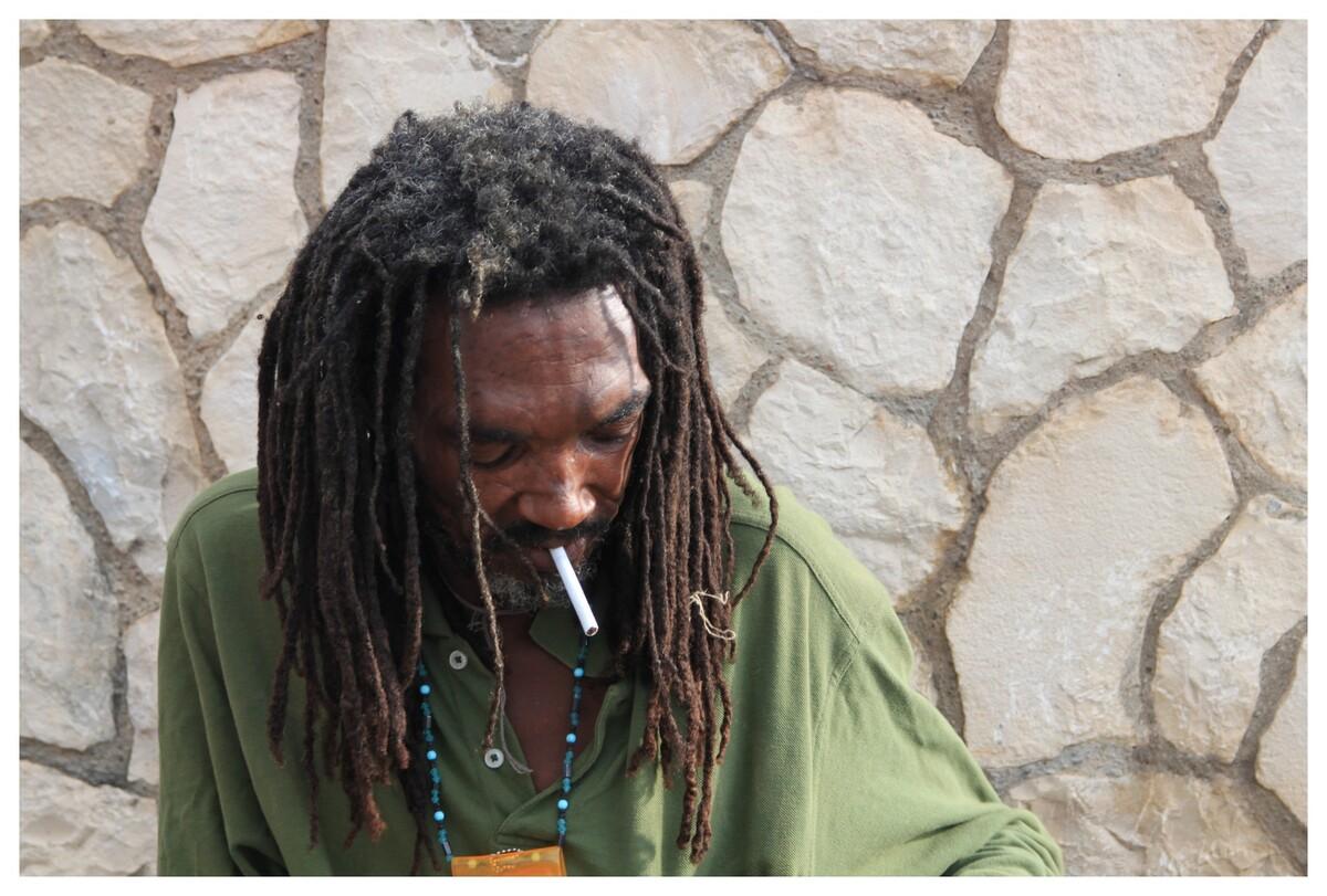 rencontre à La Jamaïque (je lui ai offert une gauloise !)