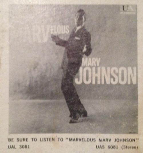 "Marv Johnson : Album "" Marvelous Marv Johnson "" United Artists UAS 6081 [ US ]"