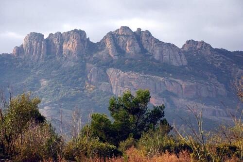 Les rochers rouges de Roquebrune