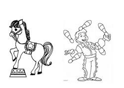 Finitions sur la piste de notre cirque: acrobates et jongleurs...