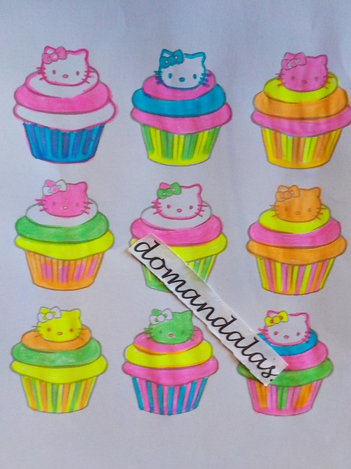 domandalas cupcakes hello kitty