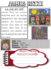 Quand t'es maicresse,tu cherches des documents sur James Rizzi
