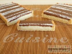 Tarte marbrée aux 2 chocolats