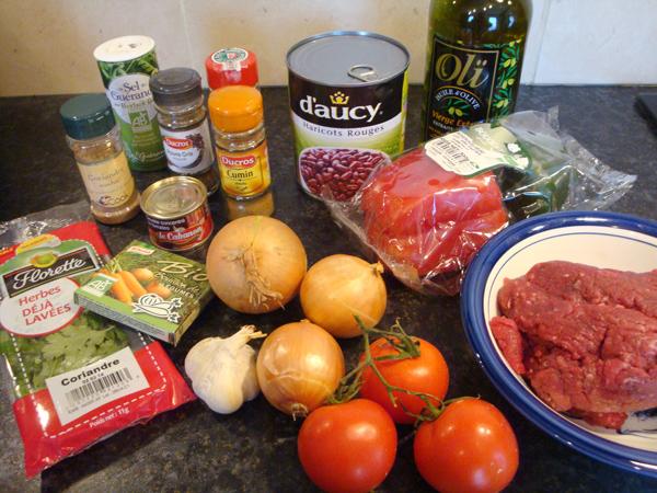 Chili con carne à la coriandre !