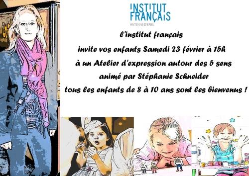Atelier pour enfants à l'Institut Français