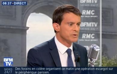 Manuel Valls jeudi matin sur BFMTV