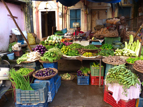 la rue principale d'Haridwar