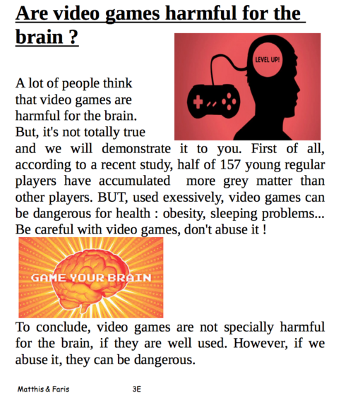Video games : good or bad?