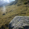 Croix sur un rocher au Sud-Est de la cabane des Tousaus