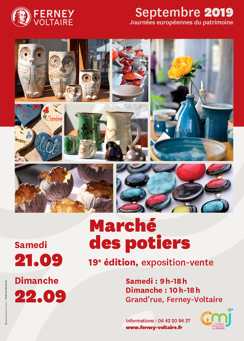 Marché potier de Ferney Voltaire 2019