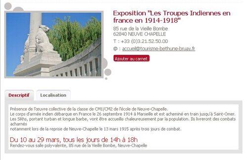 Expositions : L'Inde dans la Grande Guerre