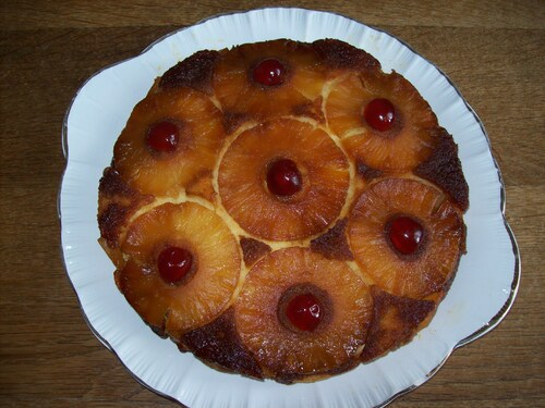 Gâteau ananas .