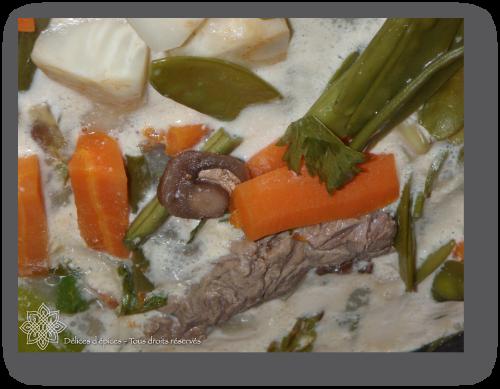 Blanquette de veau aux quatre épices