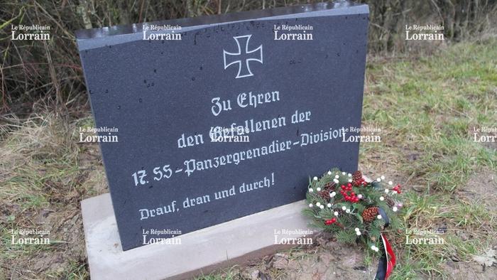 En Moselle, une stèle nazie érigée sur un terrain privé