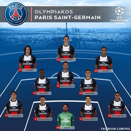 17 Septembre 2013 - LDC Olympiakos 1-4 Paris SG