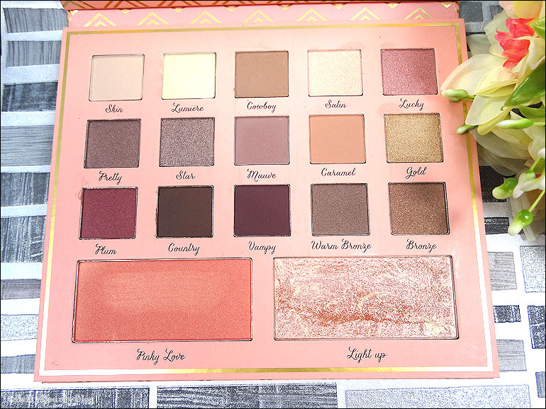 Warm lights la palette d'Elsa makeup (une semaine de MU)
