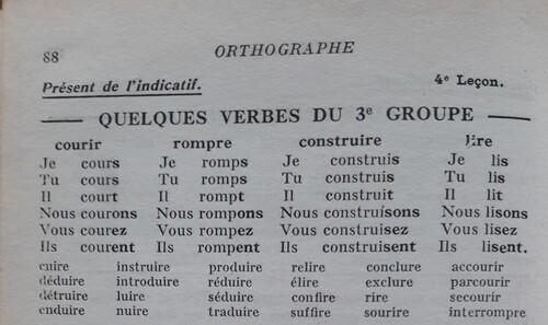 F / Les verbes du troisième groupe
