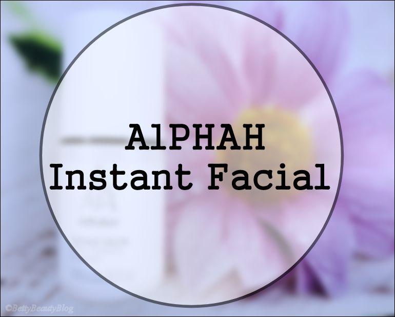 ALPHAH instant facial